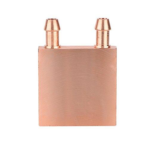 Cuifati Bloque de Cobre de enfriamiento de Agua, Bloque de enfriamiento de Agua de Cobre, Sistema de disipador de Calor de Enfriador de Agua líquido para gráficos GPU Head CPU 40 * 40 * 10 mm