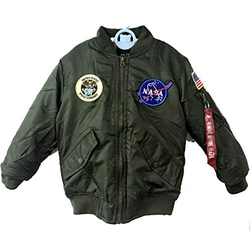 Saga Green Light Weight Flight Military NASA Jacket for Biys