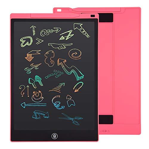 EooCoo 12 Zoll LCD Schreibtablett, Löschbare Elektronische Memoboard, Digitale Zeichenblock Doodle Board, Schreibtafel Buntes Display, Rosa