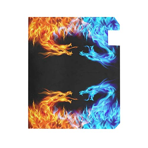ZZKKO Dragon Fire and Water Magnetic Mailbox Cover Wrap Post Letter Box Cover for Outside Garden Home Decor Large Size 25.5 x 20.8 inch