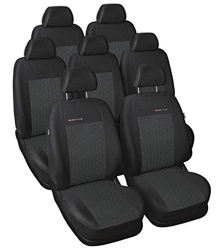 DKMOTO DK59P1 Fundas de Asiento a Medida para Volkswagen Sharan 1995-2010, Ford Galaxy 1995-2006, Se