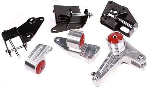 Innovative Mounts B90051-75A Silver Aluminum Mounts 75A Bushings (96-00 Civic K-Series (Eg/Dc Subframe)