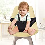 YISSVIC Baby Chair Belt Cloth High Chair Harness Baby Safety Seat Harness Portable Washable Cloth Red (Black)