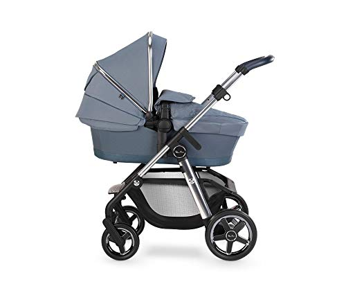 Silver Cross Pioneer Travel System, Multi-Terrain Baby Pram for Newborn to Toddler, for City to Off Road, with Reclinable Reversible Pushchair Seat and Carrycot - Sky