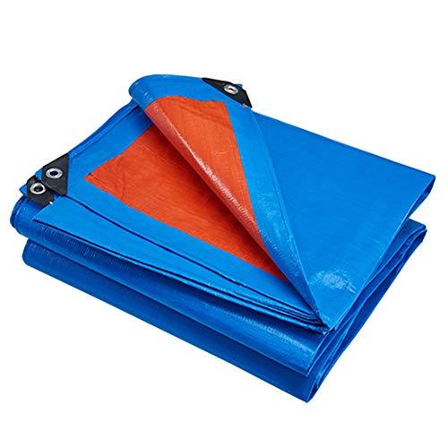 WZHIJUN Tarps 10×12m Multipurpose Blauw/oranje Economisch Type Tarpaulin Gebruikt voor het dekken van goederen 14 Size Optioneel