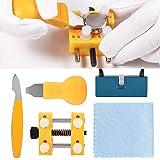 Kit de herramientas de reparación de relojes, 5 piezas de abridor de caja de reloj, práctica correa de reloj para reparación, uso personal, apertura de caja de reloj para reemplazo de