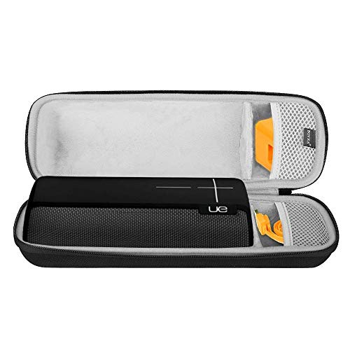 BOVKE Travel Case for Ultimate Ears UE Boom 2 / UE Boom 1 Wireless Mobile Bluetooth Speaker. Fits USB Cable and Wall Charger, Black