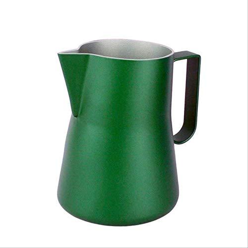 GFHTH Milchkanne Milchschaum Krug Milch Blase Tasse Kaffee Latte Krug Espresso Krug Pull Flower Cup Edelstahl Coffee Ware 350Ml B