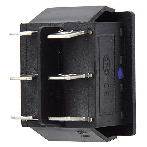 Interruptor basculante de plástico Azul de 6 Pines para electrodomésticos para electrodomésticos, máquina Herramienta