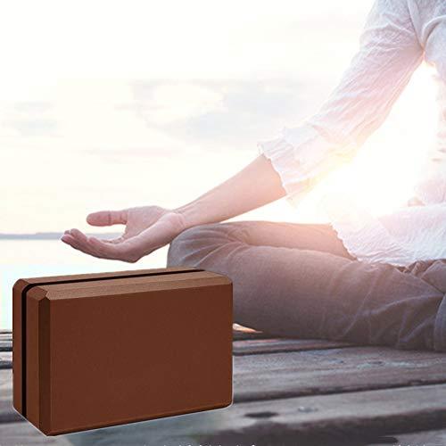 chunnron Bloque Yoga Yoga Block Bloque de Espuma de Alta Densidad Bloques de Yoga Bloques y Ladrillos para Yoga Yoga Conjunto Yoga Bloques de Soporte 1pc,-