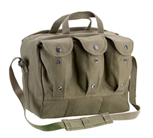 Rothco Canvas Medical Equipment Bag/Mag Bag, Olive Drab Size