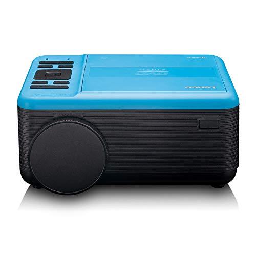 Lenco LPJ-500 - Proyector Bluetooth (2800 lúmenes, 30.000 Horas de Vida útil, Full HD, Bluetooth 5.0, 2 entradas HDMI, USB, Puerto SD, AV-in, VGA, Color Azul)