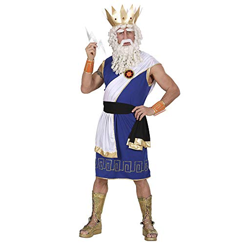 Widmann-73613 Costume Zeus/Dio del Mare Adulto, Blu, L, WDM73613