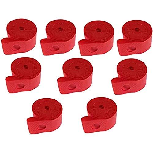Huante - Lote de 10 bandas de llanta de bicicleta para bicicleta, tubo de tubo interior, cinturón antipinchazos para talla 26 pulgadas