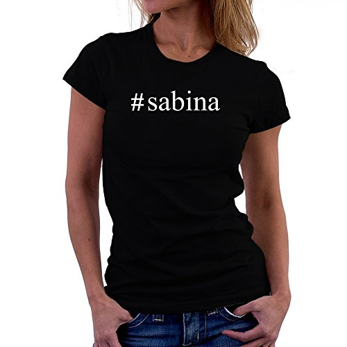 Teeburon Sabina Hashtag Camiseta Mujer