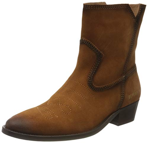 Replay Damen New Gipsy - PRIMORDIAL Cowboystiefel, Braun (Tan 56), 38 EU