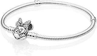 Disney, Shimmering Minnie Portrait Bracelet 925 Sterling Silver - 597770CZ