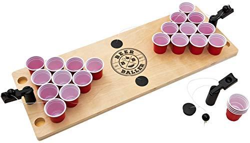 BeerBaller® Shot Pong: Das legendäre Beerpong Spiel als Shot Version! DIE TRINKSPIEL NEUHEIT 2020! Inklusive gratis Ersatzteile – Minipong ist ideal für Partys, Vorglühen, Festivals oder als Geschenk