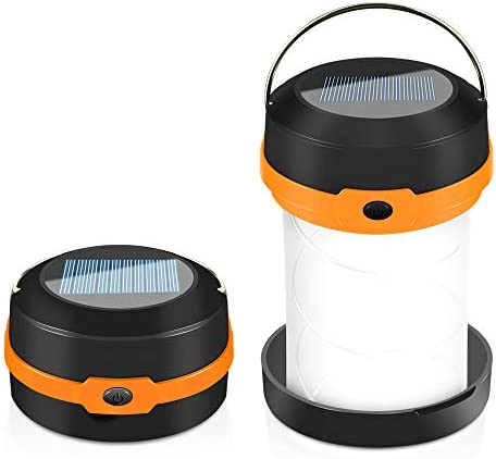 Solar Powered LED Camping Lantern Solar or USB Chargeable Portable Chargeable Collapsible LED product image