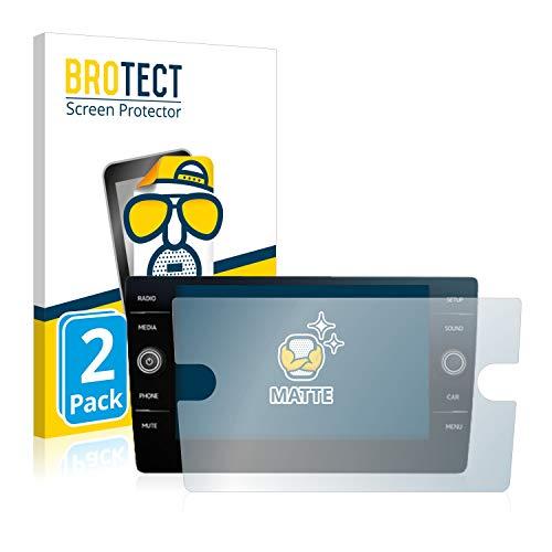 BROTECT 2X Entspiegelungs-Schutzfolie kompatibel mit Volkswagen Discover Media Golf Alltrack/Tiguan 2018 Matt, Anti-Reflex, Anti-Fingerprint