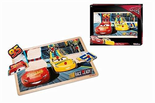 Eichhorn 100003289 - Disney Cars 3 Steckpuzzle 30x20cm, 11 teilig