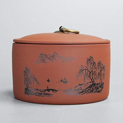 Emballage boîte de thé Vaso di porcellana,Canister de thé,Coffres de stockage de thé,Service à thé -F 4x6inch