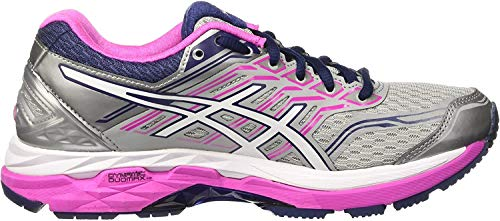 Asics Gt-2000 5, Scarpe Sportive Donna, Multicolore (Midgrey/White/Pink Glow), 44 EU
