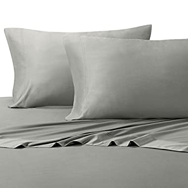100% Bamboo Bed Sheet Set - King, Solid Grey - Super Soft & Cool, Bamboo Viscose, 4PC Sheets