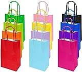 Flintronic Bolsa de Regalo, 12 PCS Bolsa de Papel, 12 x 26 x 32 cm 12 Tipos de Color Bolsas Papel Kraft, Fiestas, Ceremonias de Graduación, Bodas, Aniversarios etc.