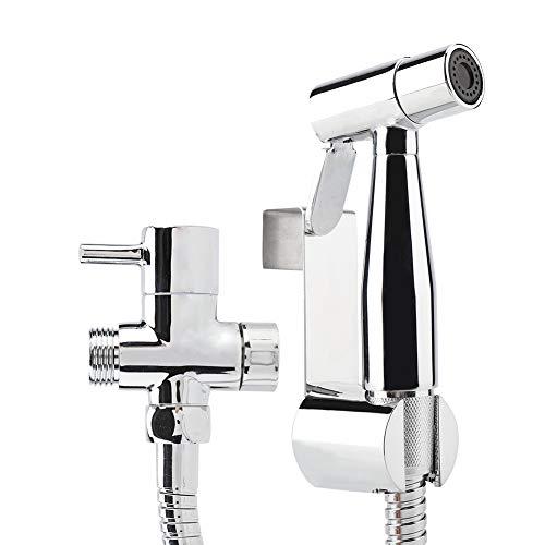 G1/2 Zoll Bidet Handbrause Set mit Halter Gummi Pads Wasserverteiler Schlauch für Toiletten WC Badezimmer Hygiene Zubehör Toilettenaufsatz