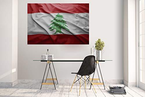 Wandtattoo Wandsticker Aufkleber Kinderzimmer Libanon Lebanon Fahne Flagge