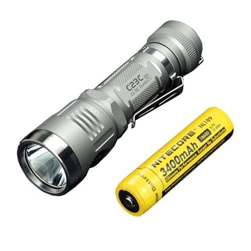 Bundle: Sunwayman C23C Flashlight w/ NL189 Battery -Available in Grey or Black