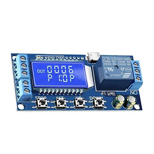 Uayasily temporizzatore Relè di Controllo Relè Ritardo Consiglio Ritardo di commutazione modulo relè con Display LCD Accessori della Stampante 3D
