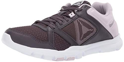 Reebok Women's Yourflex Trainette 10 MT Sneaker, Smoky Volcano/Quartz/Whit, 5 M US