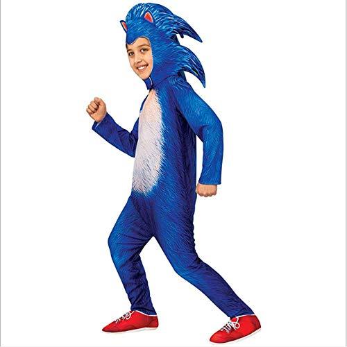 CHANGL Kinder Halloween Cosplay Kostüme Mädchen Jungen Spiel Sonic Overalls mit Kopfbedeckungen Kinder Karneval Phantasie Party Kostüme