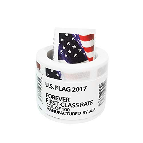 Flag Postage, Flag Stamps Business Envelope Matching 2017 Forever Postage Stamps - Roll of 100