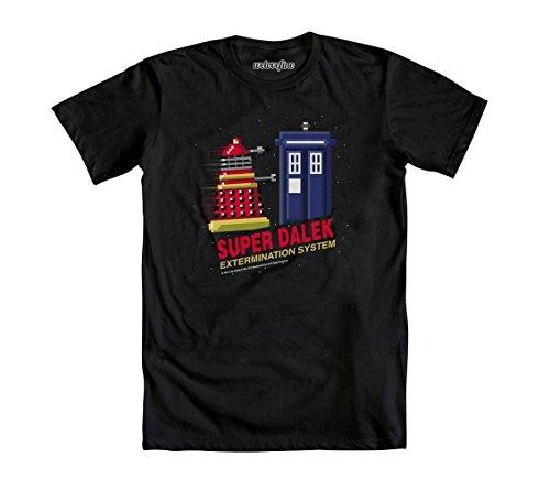 Doctor Who Super Dalek Extermination System Camiseta Negra Para Hombre