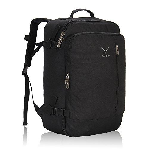 Hynes Eagle 38L Flight Approved Weekender Carry on Backpack Black 2017