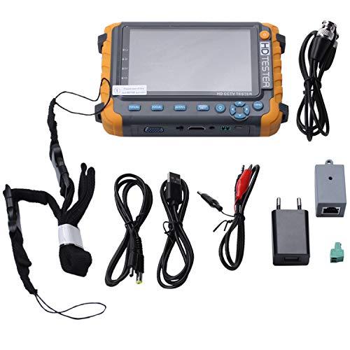 Katigan 5 Pulgadas Tft Lcd Hd 5Mp Tvi Ahd Cvi Cvbs Probador De Cámara De Seguridad Analógica Monitor En Un Cctv Probador Vga Entrada Iv8W (Enchufe De La Ue)