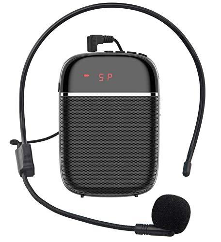 JCWY Amplificador de Voz, Sistema de Megafonía Recargable de 10 W (1000...