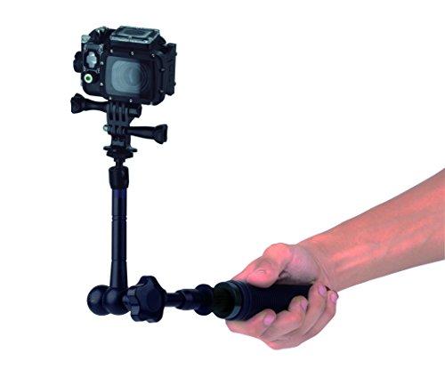 Nilox Racchetta Telescopica Modulare e Snodabile per Action Cam, Nero