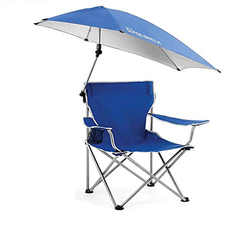 Outdoor Fishing Folding Chair, With Sunshade Canopy Umbrella And Cup Holder, Oxford Seat Fabric, Waterproof Comfortable Durable, For Summer Outing Camping Beach Garden