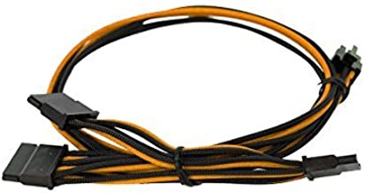 EVGA Black & Orange 550-650 G2/P2/T2 Power Supply Cable Set, Individually Sleeved (100-G2-06KO-B9)