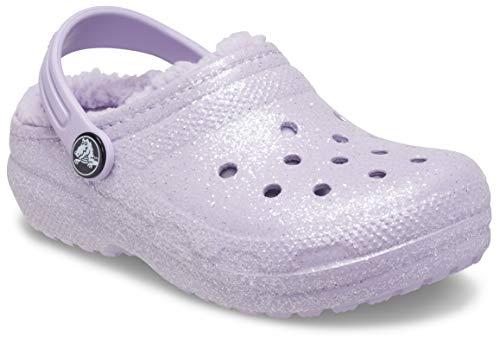Crocs Classic Glitter Lined Clog K, Lavender, 13 UK Child