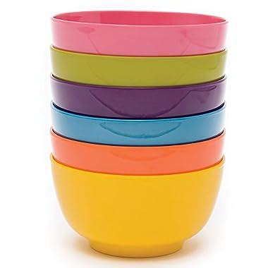 French Bull 5  Cereal Bowl Set of 6 - Melamine Dinnerware - Small, Kids, Pasta - Multi