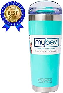 MyBevi Stainless Steel Premium Grade Insulated Travel Tumbler 26 oz - (Turquoise)