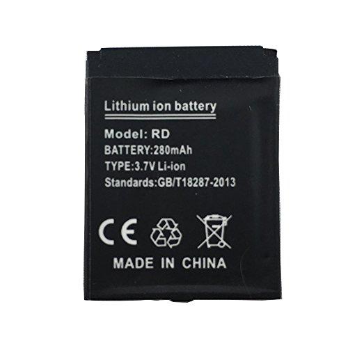 OCTelect Smartwatch Batterie RD wiederaufladbare Lithium-Batterie mit 380MAH Kapazität
