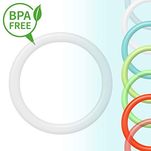 O-Ring | Silikonring | Schnullerkette Adapter für Schnuller ohne Henkel | transparent