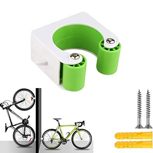 ZLDM Wandhalterung Fahrrad, Fahrradträge, Platzsparende Fahrrad Wandhalterung, Aufbewahrungssystem Für Fahrradträger Im Innen- Und Außenbereich Für Rennräder Und Mountainbikes (Grün)