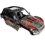 Eddwiin para RC Car Shell Modelo de Control Remoto Car Body Shell para XLH 9137 RC Truck Anti-Impacto Accesorio Duradero ( Color : Red Set )